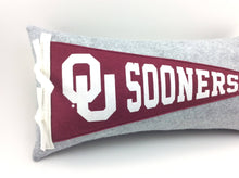 Load image into Gallery viewer, Oklahoma Sooners Pennant Pillow