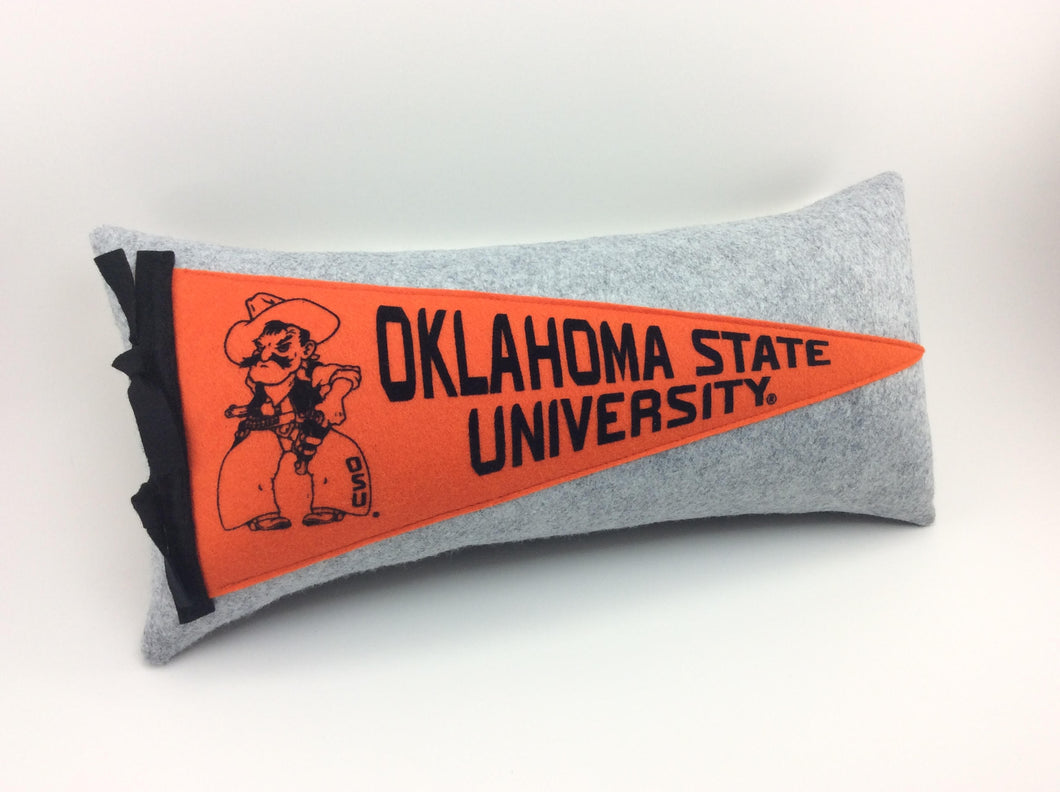 Oklahoma State University Cowboys Pennant Pillow