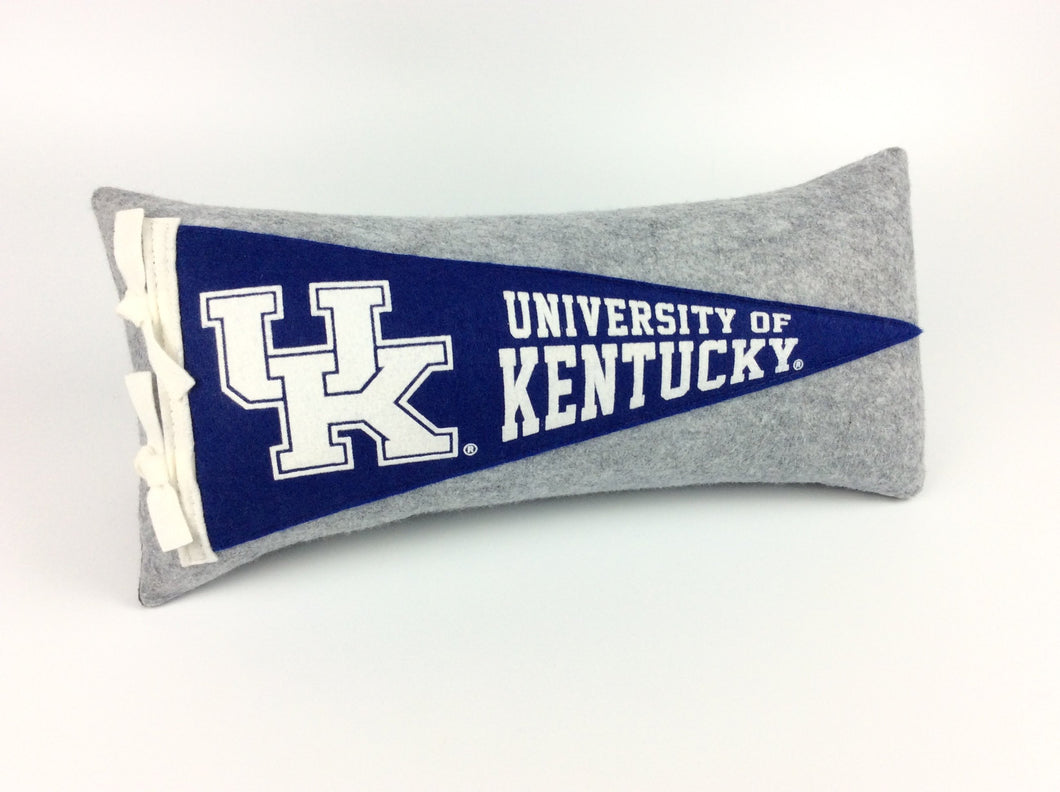 Kentucky Wildcats Pennant Pillow