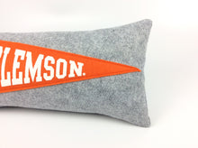 Load image into Gallery viewer, Clemson Tigers Pennant Pillow