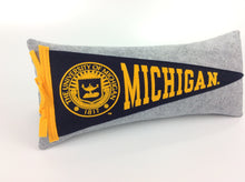 Load image into Gallery viewer, Michigan Wolverines Pennant Pillow