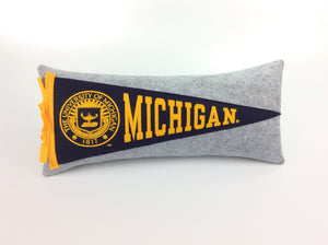 Michigan Wolverines Pennant Pillow