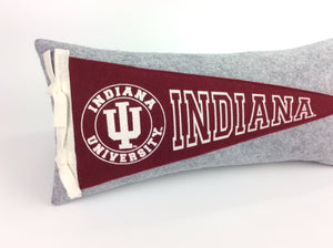 Custom order for Jennifer: Indiana Hoosiers Pennant Pillow and vintage pennant