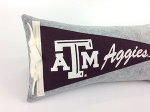 Texas A&M University Aggies Pennant Pillow