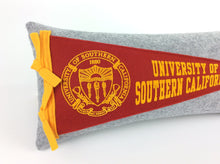 Load image into Gallery viewer, University of Southern California USC Trojans Pennant Pillow