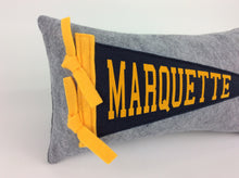 Load image into Gallery viewer, Marquette Pennant Pillow - Small 11 inches