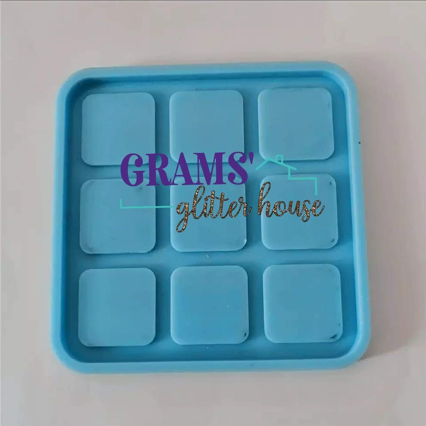 Mini Tic Tac Toe Set Mold - Grams' Glitter House