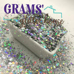 Silver Bling - Grams' Glitter House