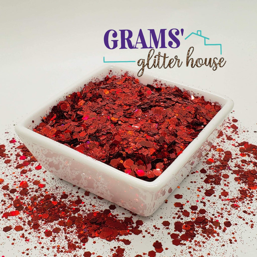 Cherry Red Mix - Grams' Glitter House