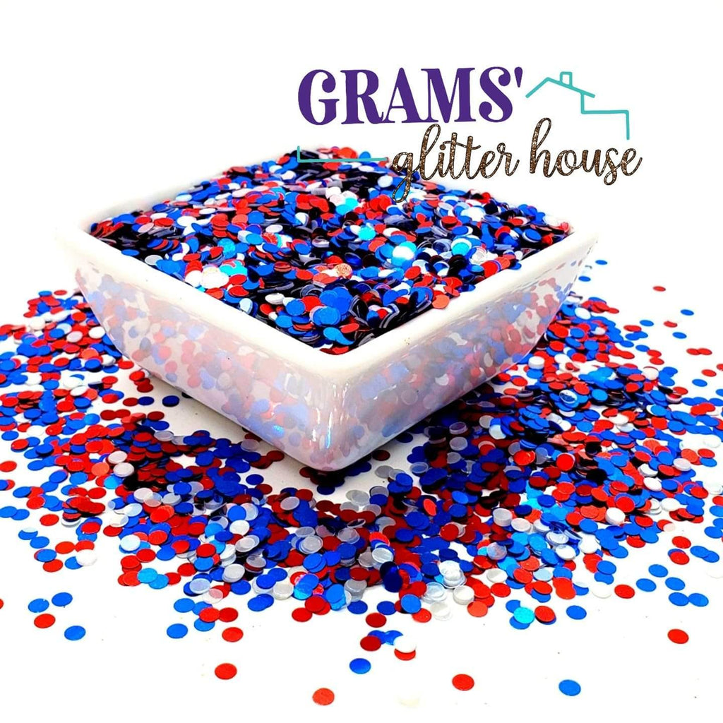 Patriotic Dots - Grams' Glitter House
