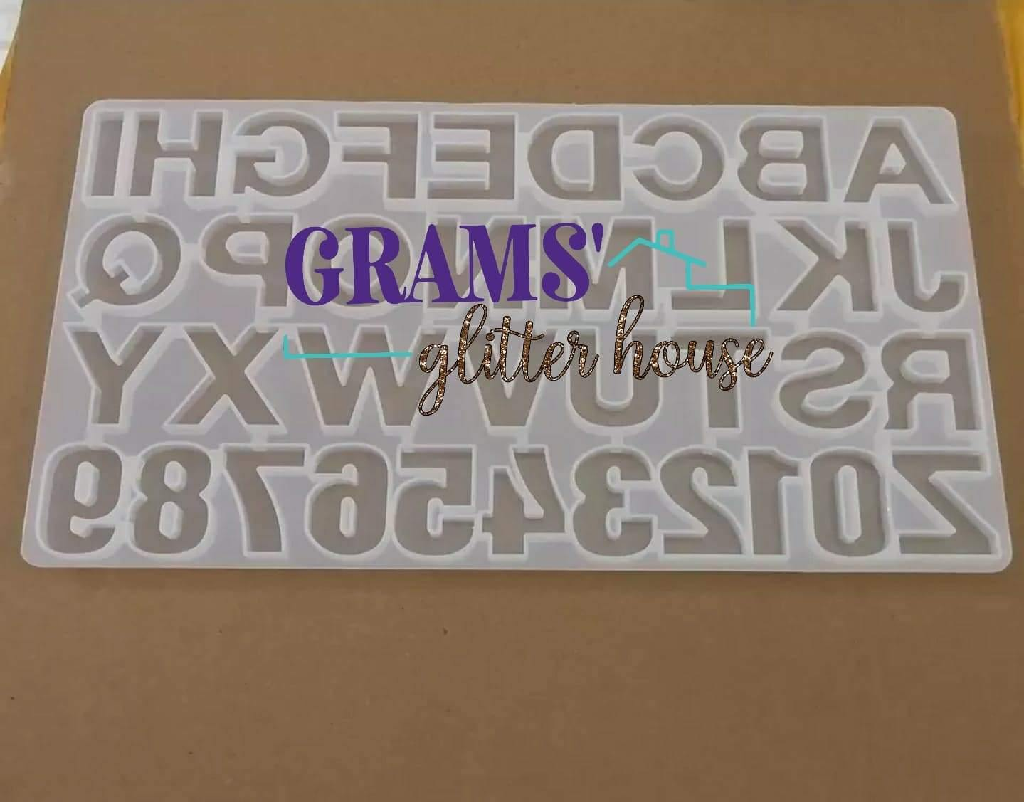 Full Alphabet Mold - Grams' Glitter House