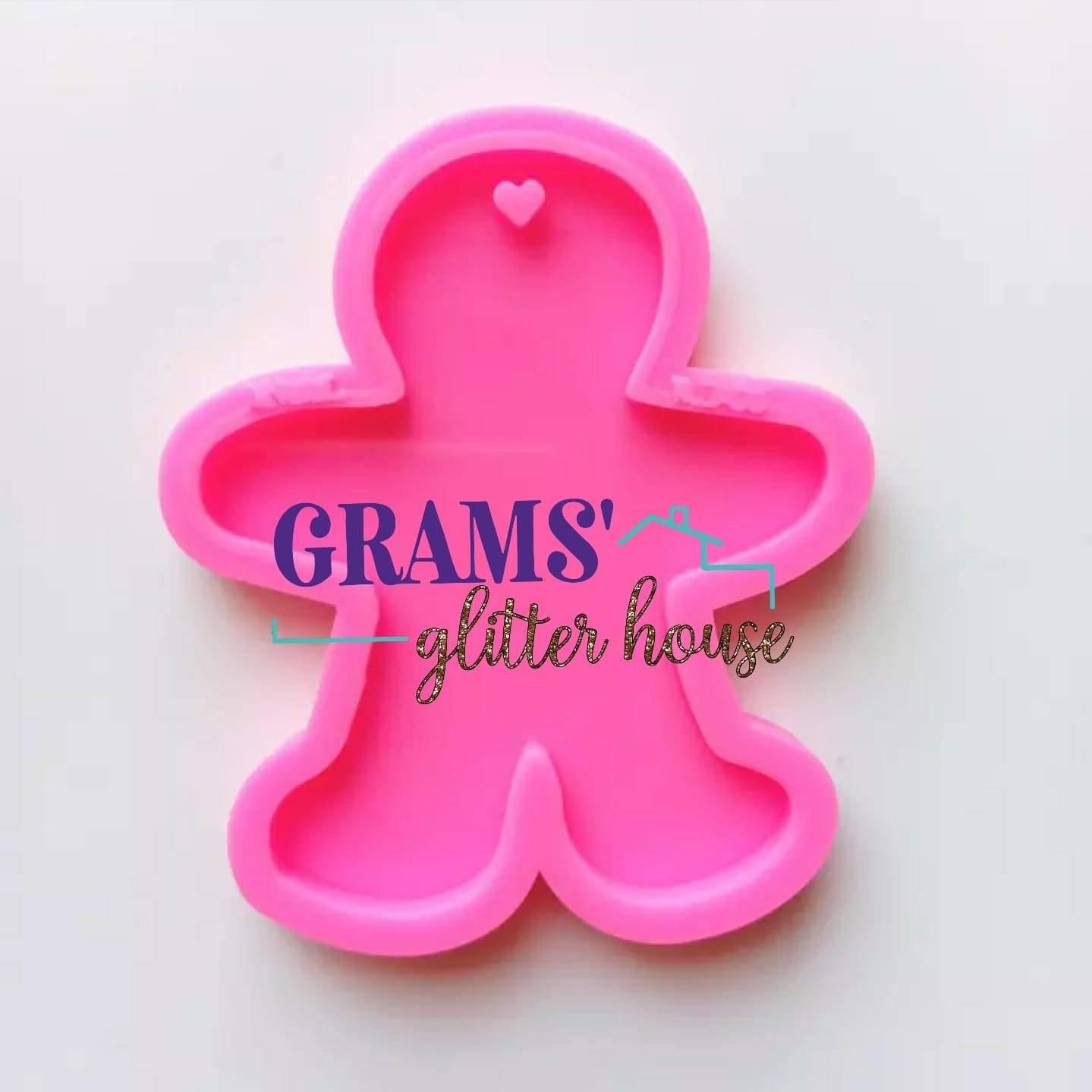 Gingerbread man Keychain Mold - Grams' Glitter House