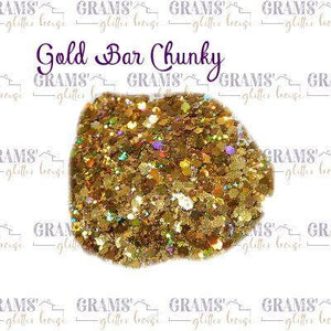 Gold Bar Chunky - Grams' Glitter House