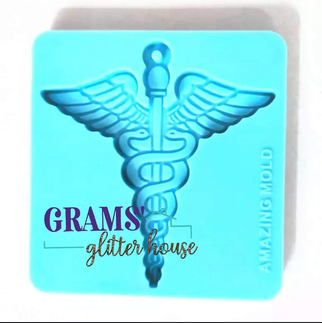 Medical Symbol Keychain Mold - Grams' Glitter House