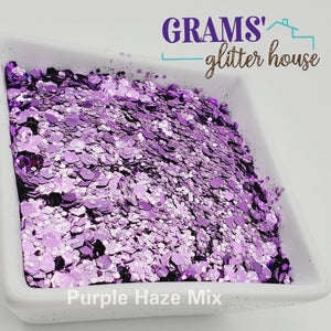 Purple Haze Mix | Metallic | Chunky Glitter - Grams' Glitter House