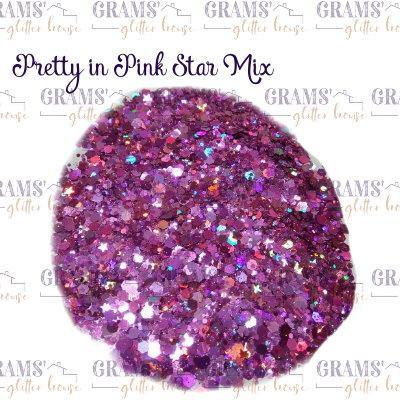 Pretty in Pink Star Mix - Grams' Glitter House