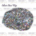 Silver Star Mix - Grams' Glitter House