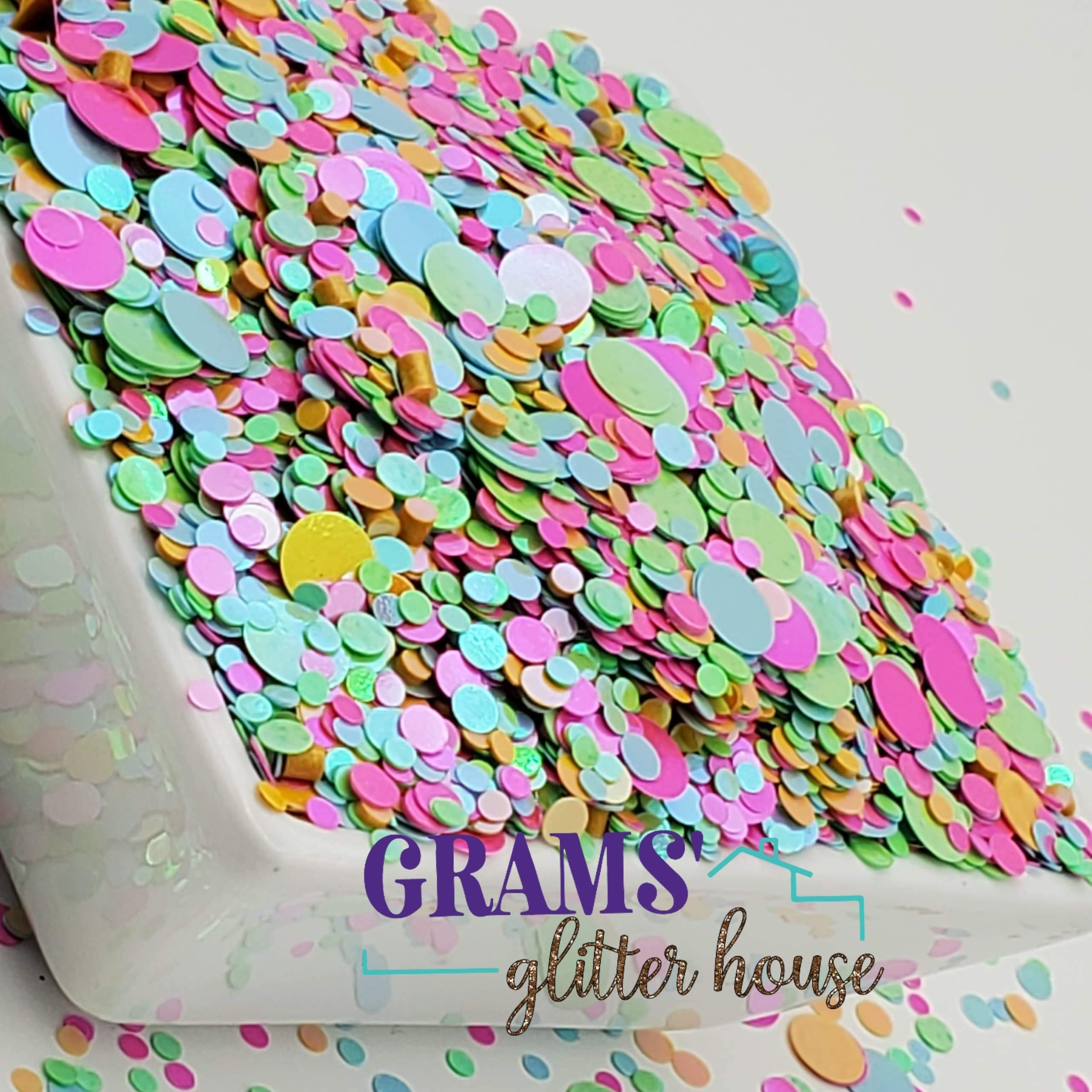 Spring Dots | Holographic | Mix Dots - Grams' Glitter House