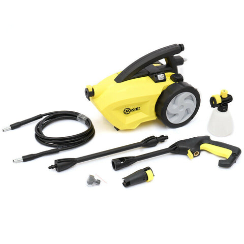 Home Electric Pressure Washer Powerful Water Cleaning Machine 1189PSI With Wheel