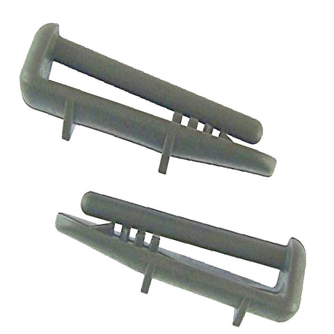 2 Superior Quality Replacement For Beko Dishwasher Rear Rail Cap Caps Clip