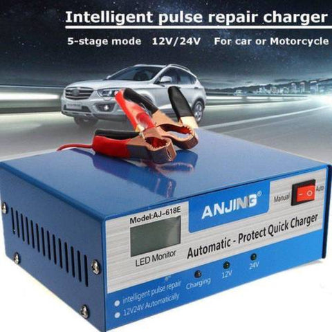 Car Battery Charger Automatic Intelligent 12V 24V Lead Acid Pulse Repair Starter