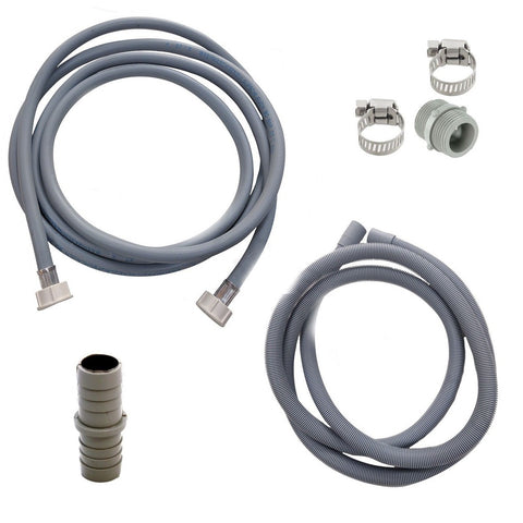 for whirlpool washing machine fill water  waste drain hose extension kit 35m