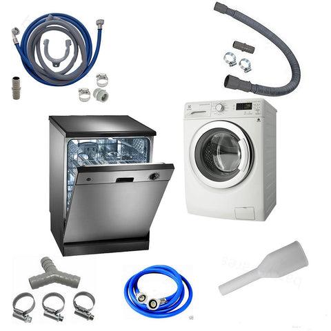 water fill  drain hose kits  spare parts for washing machines  dishwashers
