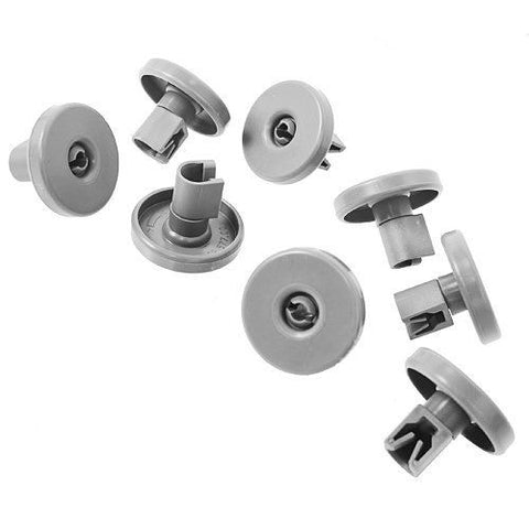 8 Dishwasher Lower Basket Wheels for Zanussi AEG Electrolux Tricity Bendix 40mm