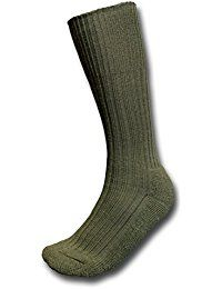 British Army Issue Military Wool Olive Sock