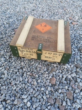 AK101 5.56 Wooden Ammo Box