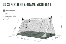 Load image into Gallery viewer, DD SuperLight - A-Frame - Mesh Tent