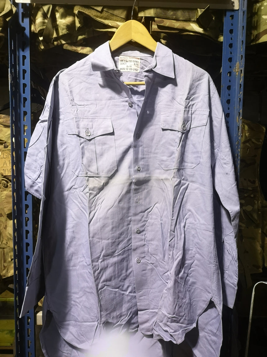 German Army Blue Shirt Vintage