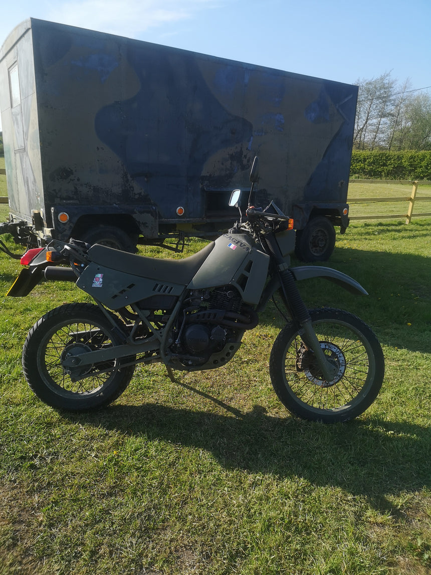 Cagiva w12 T4E Ex French army Motorcycle - Green