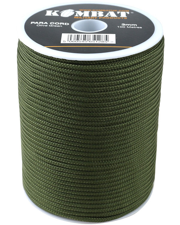 ParaCord on reel - 100m Olive Green