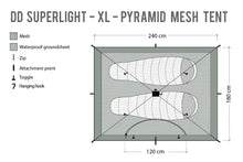 Load image into Gallery viewer, DD SuperLight - XL - Pyramid Mesh Tent