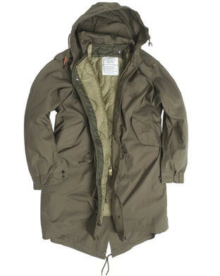 US Army OD M51 Fishtail Parka - Like New