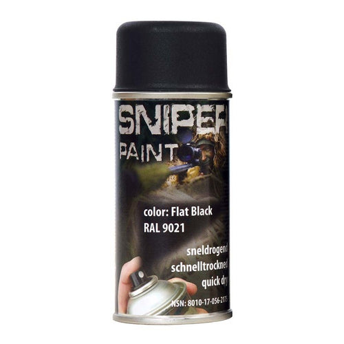 Flat Black- Military Spray Paint 150ml