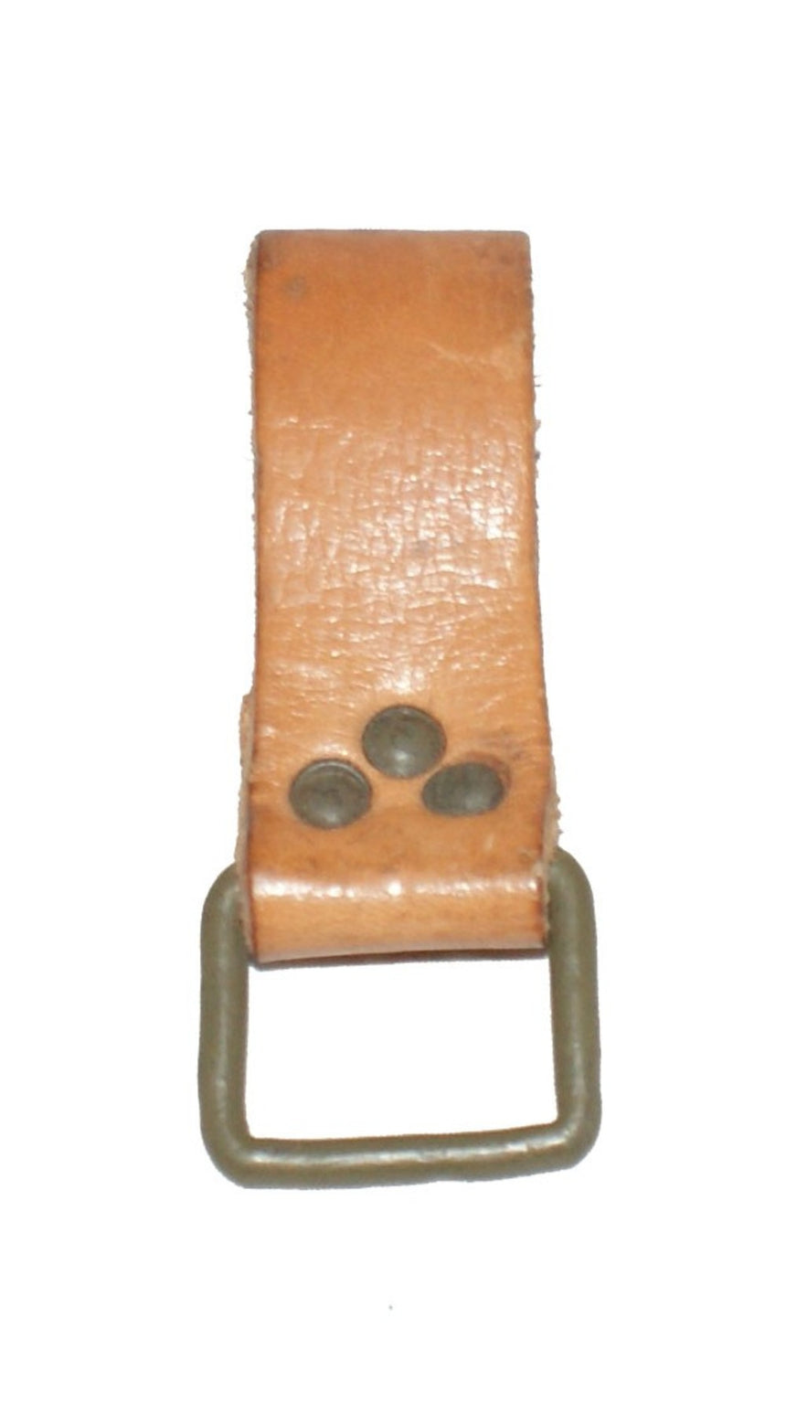 Czech Army Leather Belt Loop 'Dangler'