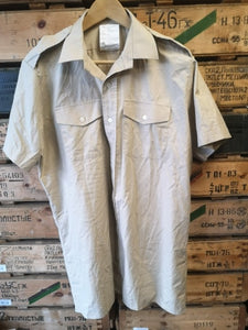 British Issue Dress Shirt  - Fawn short sleeve - As New