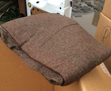 Greek / British Brown Wool Blankets