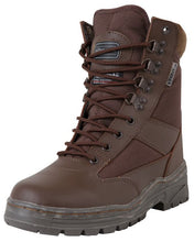 Load image into Gallery viewer, Cordura Half Leather Patrol Boots - Brown