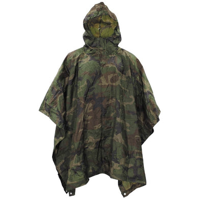 Camouflage Poncho - New