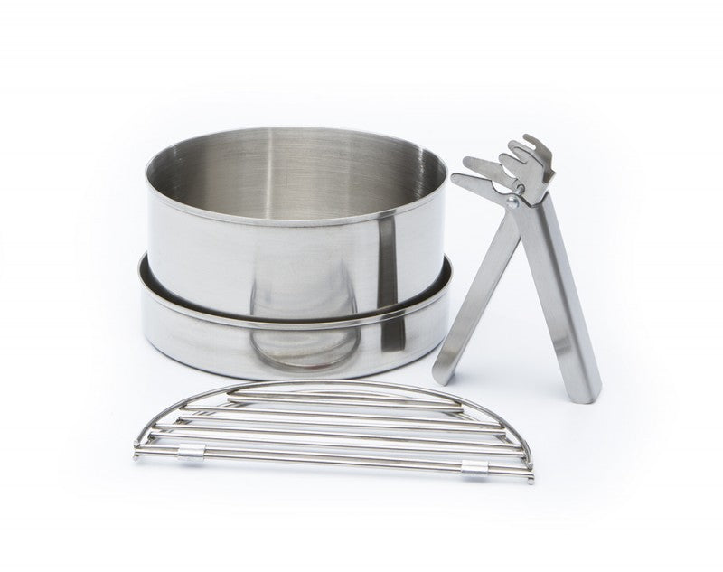 Kelly Kettle® Large Cook Set (Stainless Steel) for Base Camp or Scout Models