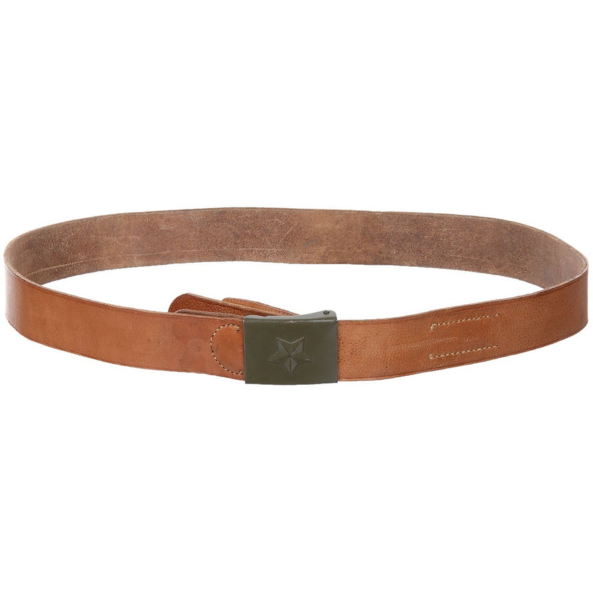 Czech Army Leather Belt