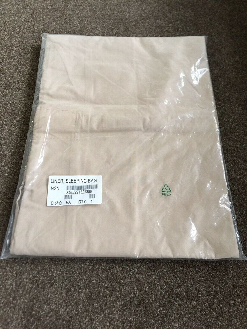 British Army Desert Cotton Sleeping bag liner