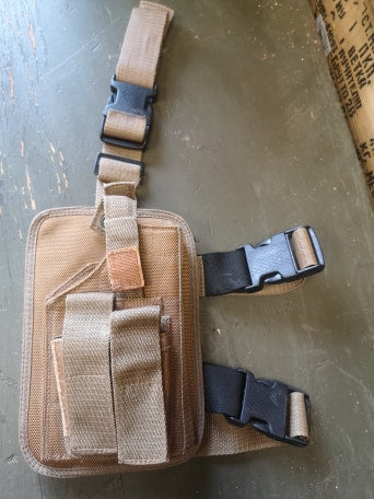 Drop Leg Adjustable Holster with mag pouches