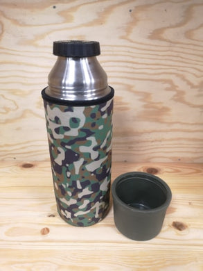 Dutch Army Thermos Flask with neoprene cover