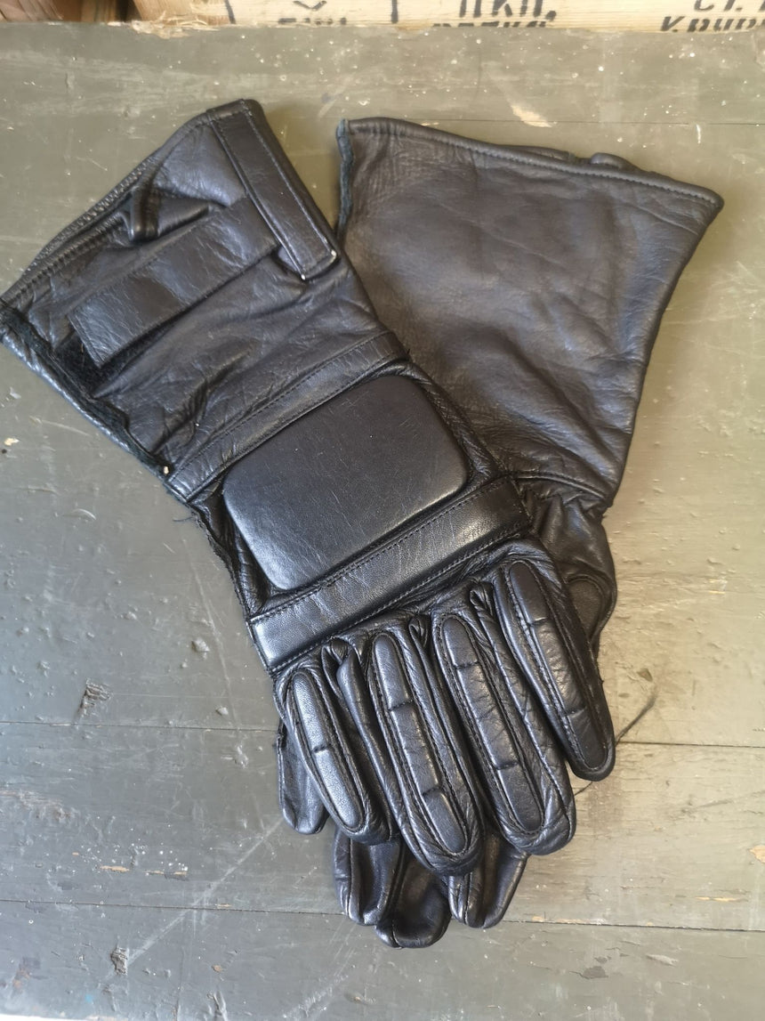 Ex Police public order Leather Gloves