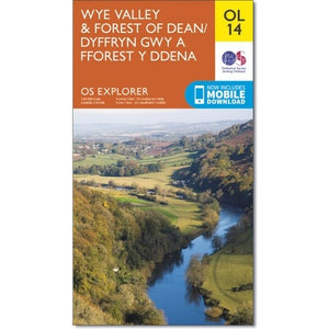 Wye Valley & Forrest of Dean OS Explorer OL14
