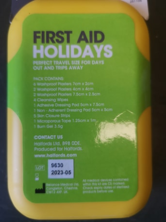 First Aid Pack - Holiday / Travel